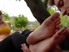 rubia fetiche fetichismo del pie duro