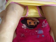 Doll panty cumshot 11