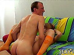 Oral-stimulation job for a horny teacher