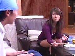 asiatisk babe avsugning japansk enhetlig
