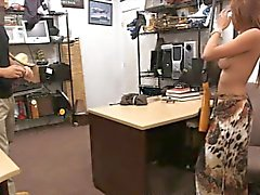 Big boobs latina gives head and gets railed by pawn guy