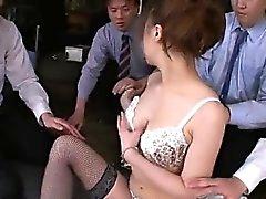 asiático sexo en grupo peludo japonés