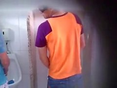 hungarian student giving a BJ on university toilet