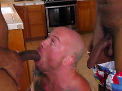 Ebony amateurs jizz hunk