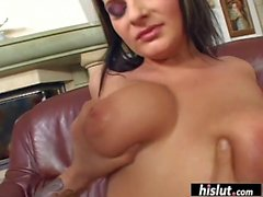 Voluptuous Nancy craves for a thick shaft