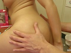Rough Anal for Hairy Asian Office Girl by Big Dick Trainee