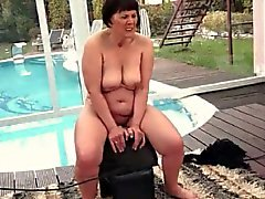 Freaks of Nature 195 Chubby Grandma Rides Sybian