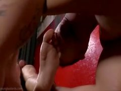 gai masturbation footjob