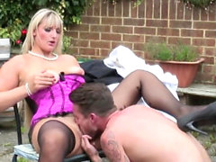 British mature blowjob and facial