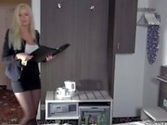MAGMA FILM Busty blonde German babe gets cock by surprise