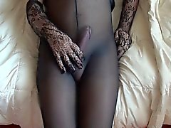 Cumming in my black pantyhose