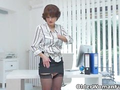 'Milf secretary Alice Sharp will gladly show you her outstanding office skills'