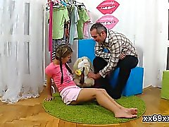 Stud assists with hymen physical and screwing of virgin chic