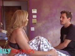 'FamilyHookups - Horny Mom Julia Ann Sucks Her Stepson's Cock & Rides Him Until He Jizz On Her Lips'