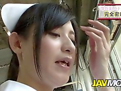 naughty japanese nurses blowjob in a hospital