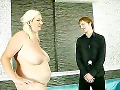 Blonde bbw dominates and sucks cock for this guy
