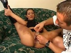 Speculum fisting and cumshot Alyssa from 1fuckdatecom
