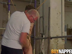 Tied up Johnny Polak sucked off by mature tormentor