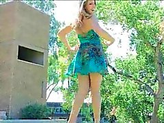 Veronica Porn Gorgeous Adult In A Cute Blue Summer Dress