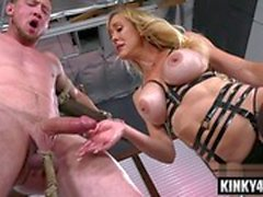 hot milf bondage and cumshot