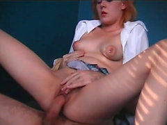 Redheaded cutie gets pounded and creamed