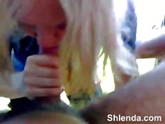 shlenda - Gorgeous blonde prostitute. Outdoor mouthfuck and rough anal