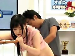 Asian cutie creampied during gangbang