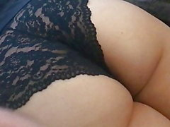 Spanking Booty in Lace Panties - Yum!