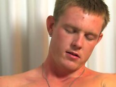 Young army dude wanks and masturbates with a lot of joy