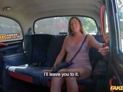 'Fake Taxi Elisa Tiger makes use of her impressive tits to get there faster'