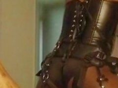 'Femdom dominatrix fucks cheating man in hotel'