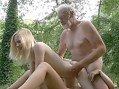 Oldman penetrates two tiny holes in the forest