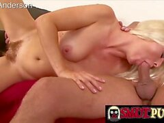 smut puppet - blonde cuties gorging themselves on hard cock compilation 7