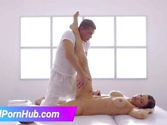 Massage sex with russian brunette Kitana Lure