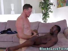 Hunks black ass banged