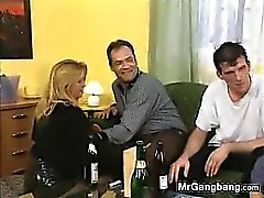 Dirty German Slut Hired For A Gangbang