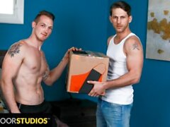 Delivery Man Brings Big Package - NextDoorStudios
