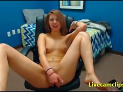 Petite teen strips very slowly