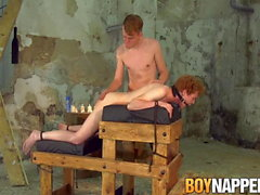 18yo ginger Avery Monroe spanked and blowjob bondage