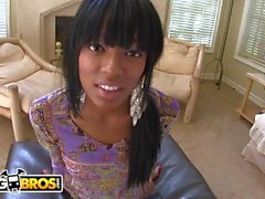 BANGBROS - Black Teen Tila Flame Interracial Suck-n-Fuck With Johnny Castle