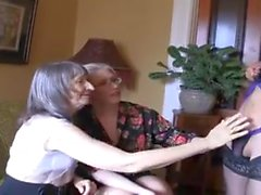 Two hot grannies and ladyboy
