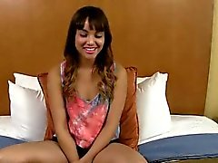 Cute Natalie gets the oral job done in POV