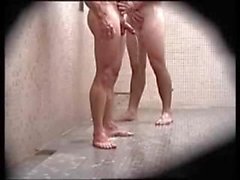 Shower Spycam - guys clubbing up in the shower soaping their cocks