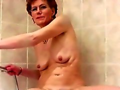 Filthy Granny shaves Her hairy Vagina