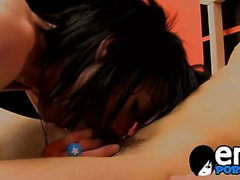 Emo guys Andy Kay and Bradon White exploring an anal sex