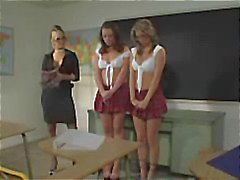 Two schoolgirls are in trouble and get punished in the best way