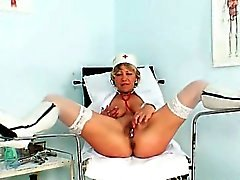 Uniform Milf Vanda kinky stethoscope insertion