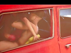 Teen sfm anal in car