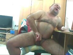 Fat hairy daddy bear cum