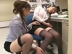 Enchanting Japanese lesbians take each other to climax in t